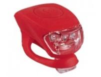 blikačka MAXBIKE JY-267F přední, silikonová červená
