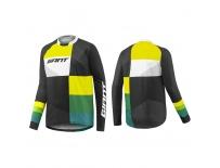 GIANT Clutch LS Jersey-black/yellow/green-M