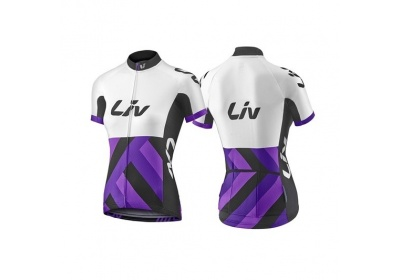 LIV Race Day SS Jersey-white/purple-M