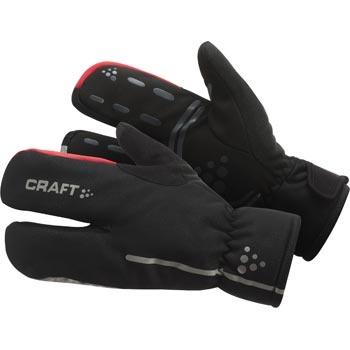 1901624-Rukavice CRAFT Bike Thermal Split Finger - Akce