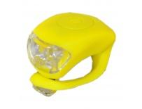 blikačka MAXBIKE JY-267F přední, silikonová žlutá