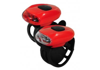 sada silikonových blikaček Maxbike JY-168, červené