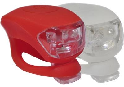 sada silikonových blikaček MAXBIKE JY-267, bílá-červená