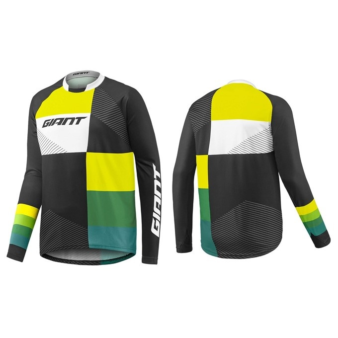 GIANT Clutch LS Jersey-black/yellow/green-S