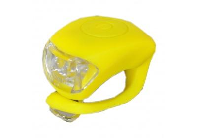 blikačka MAXBIKE JY-267T zadní, silikonová žlutá