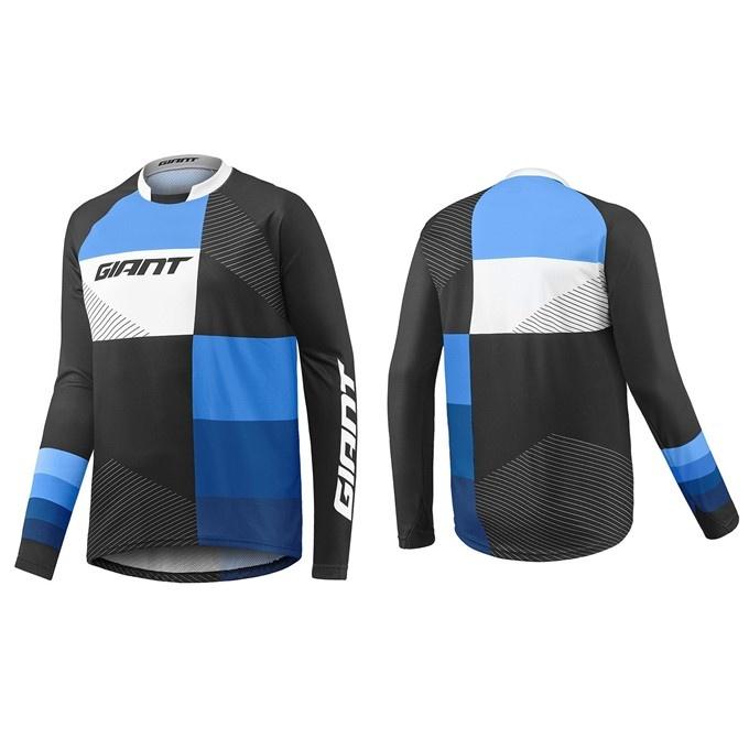 GIANT Clutch LS Jersey-black/blue-XXL