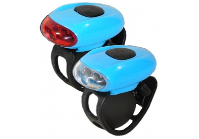 sada silikonových blikaček Maxbike JY-168, světle modrá