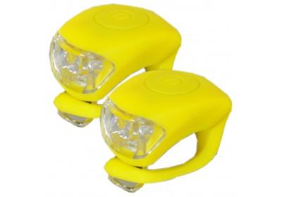 sada silikonových  blikaček MAXBIKE JY-267, žluté