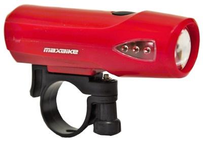 světlo MAXBIKE přední JY-224, červené, 1 Watt