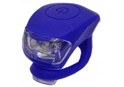 blikačka MAXBIKE JY-267F přední, silikonová modrá
