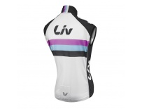 LIV Race Day Windbreaker Vest-white/black-L