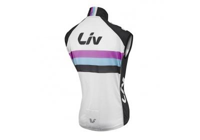 LIV Race Day Windbreaker Vest-white/black-L
