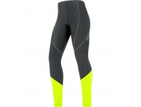 GORE Element Lady Thermo Tights-black/neon yellow-36