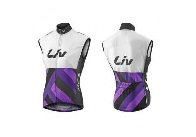 LIV Race Day Windbreaker Vest-white/purple-M