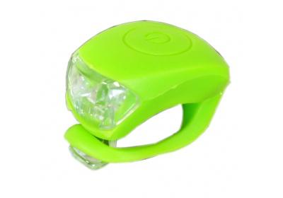 blikačka MAXBIKE JY-267F přední, silikonová zelená