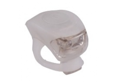 blikačka MAXBIKE JY-267F přední, silikonová bílá