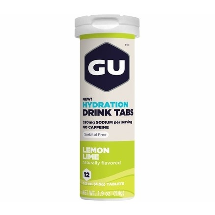 GU Hydration Drink Tabs 54 g-lemon/lime 1 tuba (balení 8ks)