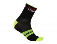 Castelli - pánské ponožky Rosso Corsa 9 cm