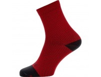 GORE C3 Dot Mid Socks-red/black-41/43