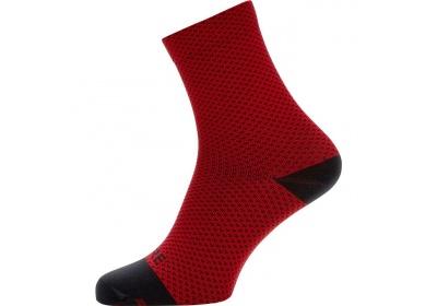 GORE C3 Dot Mid Socks-red/black-41/43