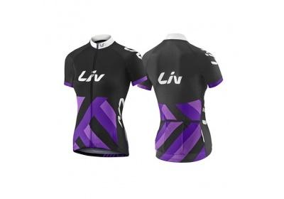 LIV Race Day SS Jersey-black/purple-L