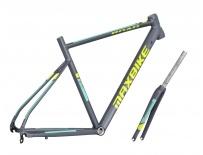 rámový set Maxbike Road 480mm + vidlice Carbon šedý