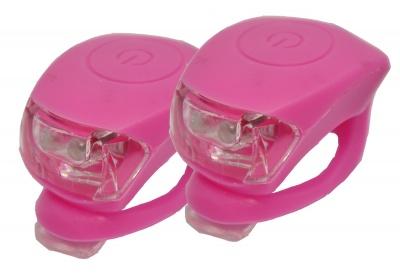 sada silikonových blikaček MAXBIKE JY-267, růžové