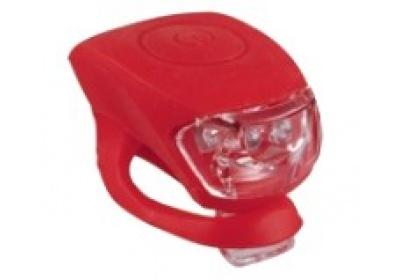 blikačka MAXBIKE JY-267T zadní, silikonová červená