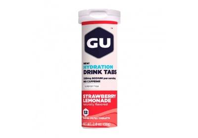 GU Hydration Drink Tabs 54 g - Strawberry Lemonade 1 tuba (balení 8ks)