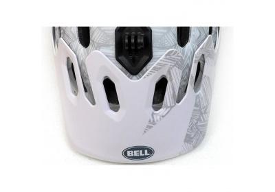 BELL Super Visor white/silver web