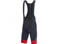 GORE C5 Optiline Bib Shorts+-black/red-XXL