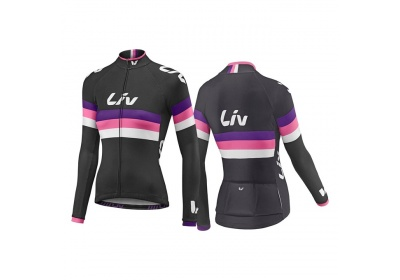 LIV Race Day LS Jersey-black/purple/hot pink-L