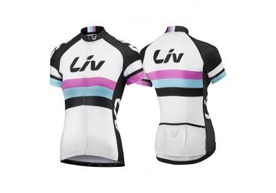 LIV Race Day SS Jersey-white/black-XL